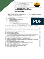 Documentos de Licenciamento Sanitarios
