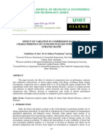 Effect of Variation in Compression Ratio on Characteristics of Ci Engine Fuell