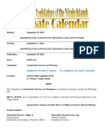 LegislativeCalendar Week Beginning 9.16.13 (Through 9.27.13)