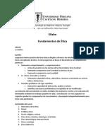 Silabo Fundamentos de Etica 2013
