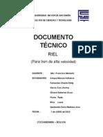 Documento Tecnico - Riel 20013
