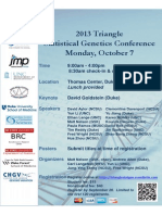 Triangle2013 StatisticalGeneticsConference-2013_09_04