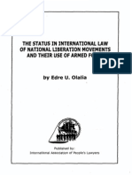 The Status in International Law of National Liberation Movements and Their Use of Armed Force