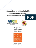 Comparison of National Wildlife Strategies, What works where and why.