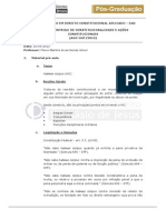 Material aula 16.09.2013 - Direito Constitucional Aplicado - HC - ANÁLISE LENZA