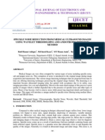 Speckle Noise Reduction From Medical Ultrasound Images Using Wavelet Thresh
