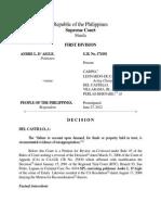 G.R. No. 174181 Andre D'Aigle vs PP