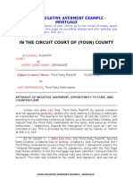 Court Negative Averment Mortgage