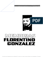 Memorias de Florentino Gonzalez