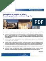 La Industria Del Cemento en El Peru