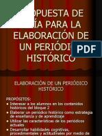 3.5 GUÍA PARA  elaboración de periódico histórico