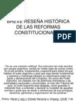 Clases de Reformas Constitucionales