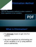 3 7 the elimination method