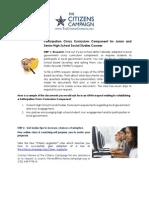 Participation Civics Curriculum Component Kit