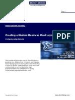 Modern Business Card Layout - Dosch Design