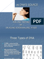 SALIVA  as DNA'S SOURCE