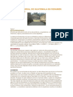 Historia de Guatemala Resumen