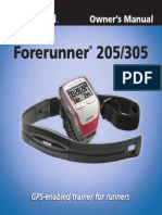 Forerunner 205 Use Guide