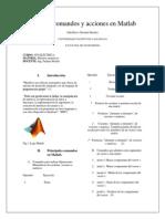 Principales Comandos y Acciones en Matlab