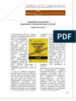 Angelita Matos Souza - Capitalismo monopolista dependente-associado de laços no Brasil