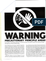 Last Magazine - Warning Precautionary Principle Ahead - John Gillott - Summer 2000