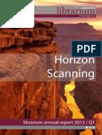 Librarium Associates Horizon Scanning 2013 Q1