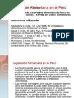 Legislación Alimentaria en el Perú