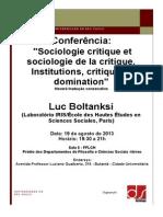 Flyer Conferencia Luc Boltanksi