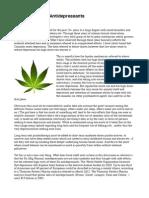 Cannabis versus Rx-Antidepressants