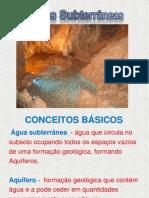 aguas subterrâneas