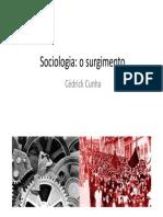 Aula 01 - Sociologia_o Surgimento