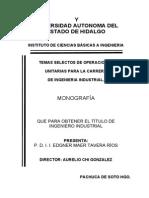 Temas Selectos de Operaciones Unitarias