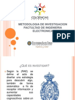 Metodologia de Investigacion Factultad de Ingenieria Electronica