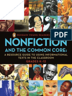 NONFICTION AND THE COMMON CORE:PENGUIN YOUNG READERS GROUP A RESOURCE GUIDE TO USING INFORMATIONAL TEXTS IN THE CLASSROOM GRADES K–12