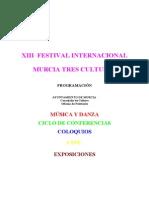 Programa Festival Murcia Tres Culturas