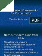 The Renewed Frameworks for Mathematics