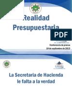 PP Realidad presupuestaria del CARF 18 sept 2013