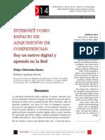 Icono14. Nº 12. INTERNET COMO ESPACIO DE ADQUISICIÓN DE COMPETENCIAS. Soy un nativo digital y aprendo en la Red