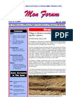 """MON ISSUE 6 Including report"""" Accounts of abuse during strand road construction in Thanbyuzaya"""""""