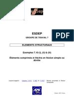 EX 7-10  Eléments comprimés et fléchis