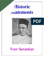 Historic Statements  (Veer Savarkar)