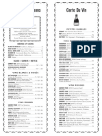 Cafe Claude Marina Opening Wine List