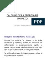 CÁLCULO DE LA ENERGÍA DE IMPACTO
