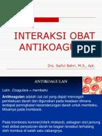 Interaksi Obat Antikoagulan