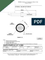 3032130010 - HASTE ATERR A-C 3-4 X 3000