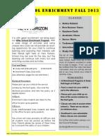 After School Enrichment 2013 - PDF
