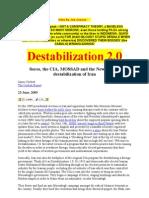 Destabilisation of IRAN