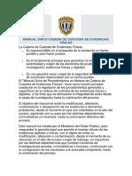 MANUAL ÚNICO CADENA DE CUSTODIA DE EVIDENCIAS FÍSICAS
