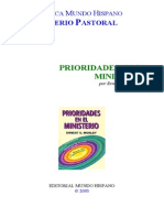 Ernest E. Mosley-Prioridades en El Ministerio