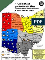 2005 Reported Meth Sites in Ohio